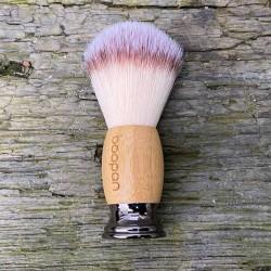 Nassrasur Pinsel mit Bambus veganer Rasierpinsel Waschkultur Seifenmanufaktur