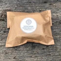Naturseife umweltfreundlich verpackt, handgemachte Kaffeeseife aus der Münchner Seifenmanufaktur