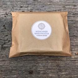 Umweltfreundlich Verpackt. Haarseife Lavendel mit naturreinem Lavendelöl Waschkultur