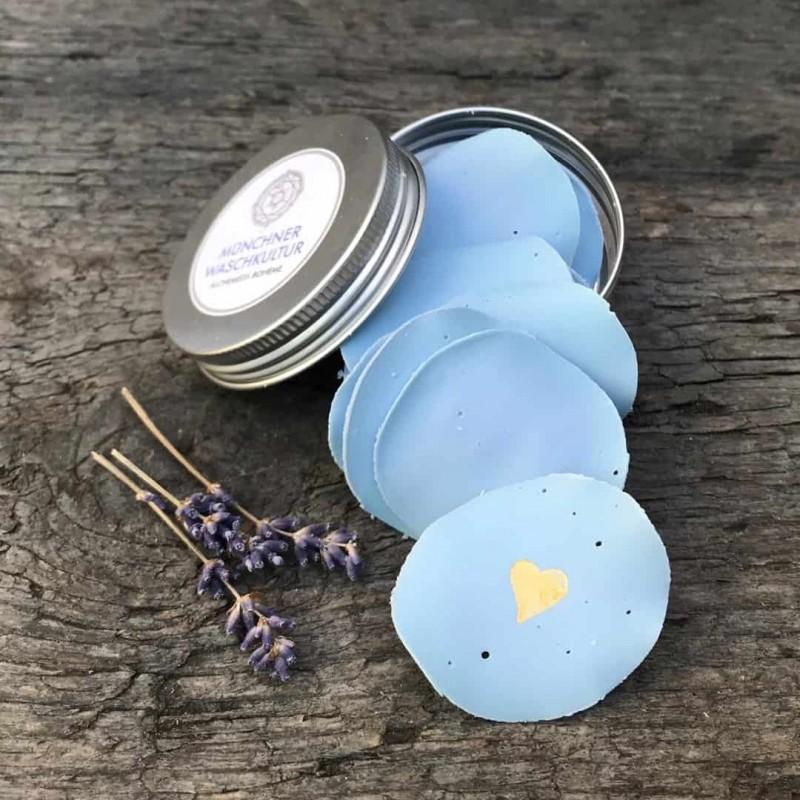Seifenpapierchen Lavendel handgemacht palmölfrei und vegan Waschkultur Seifenmanufaktur